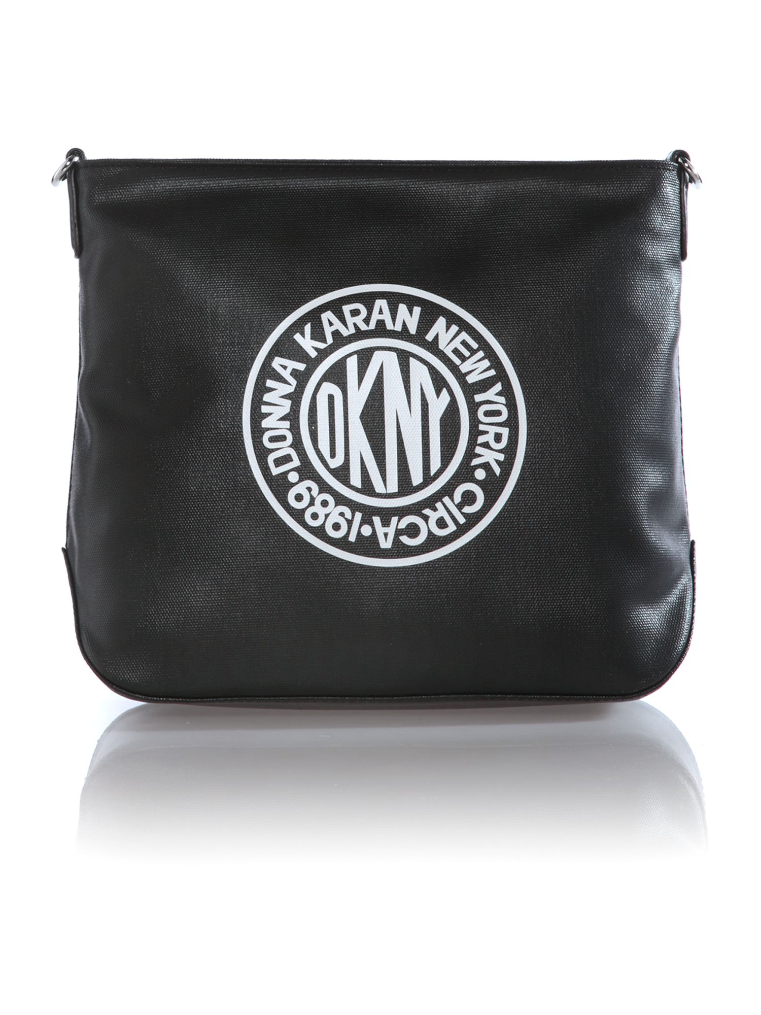 Canvas logo black small crossbody