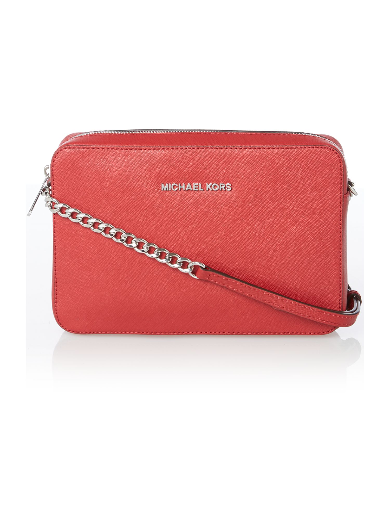 Jet set travel red medium cross body bag