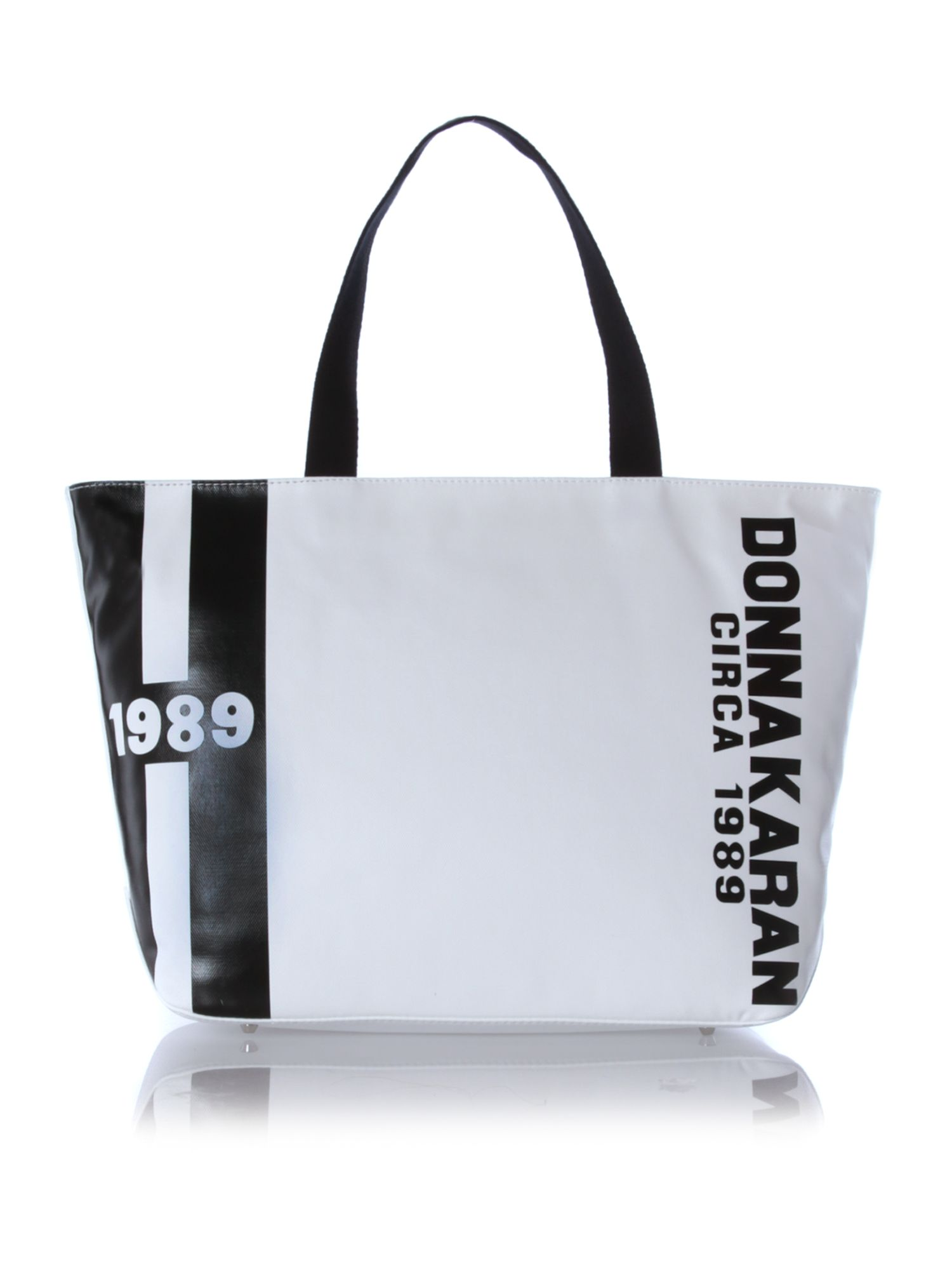 Canvas logo white tote bag