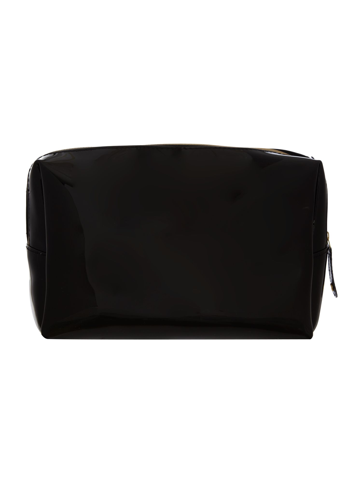 Black large bowcon cosmetic bag