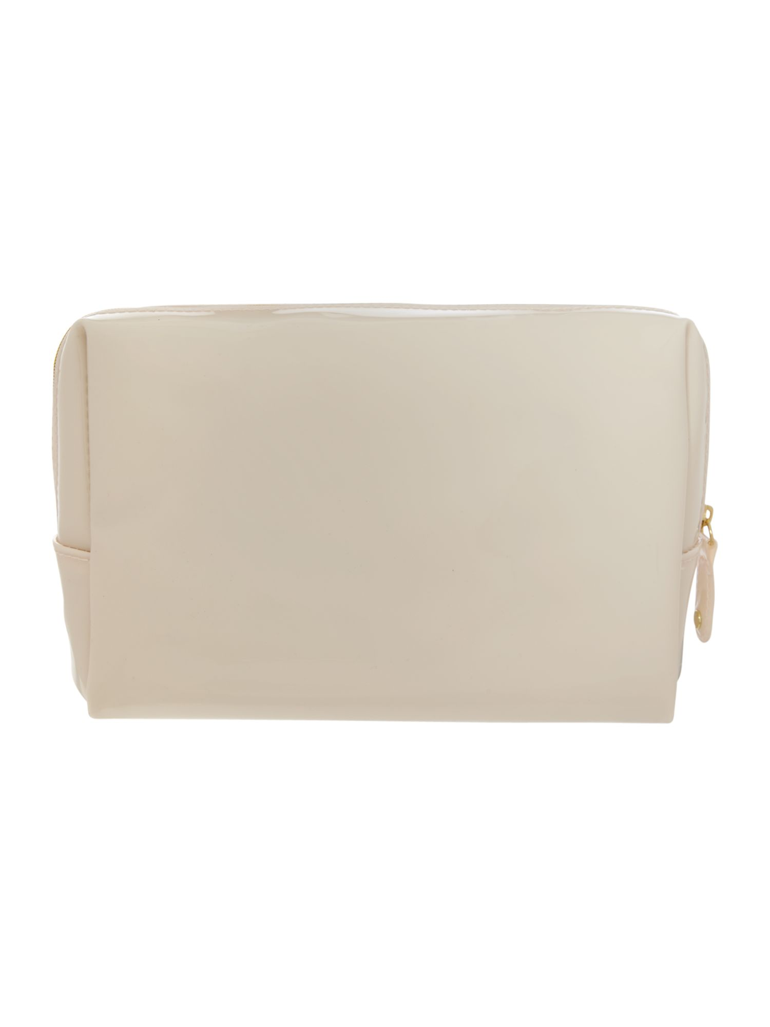 Nude large bowcon cosmetic bag