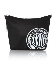 Nylon logo black medium crossbody