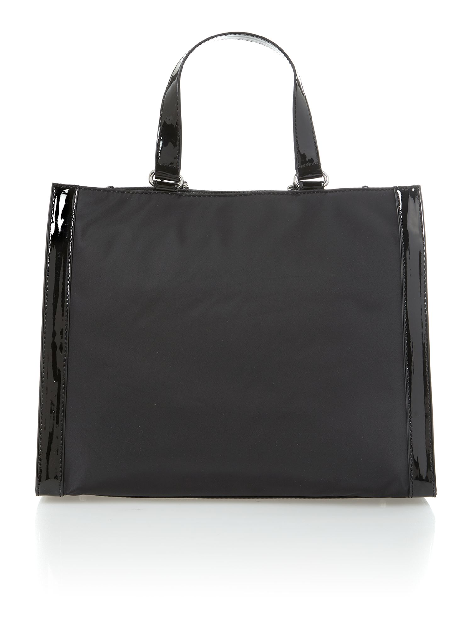 Shopper black tote bag