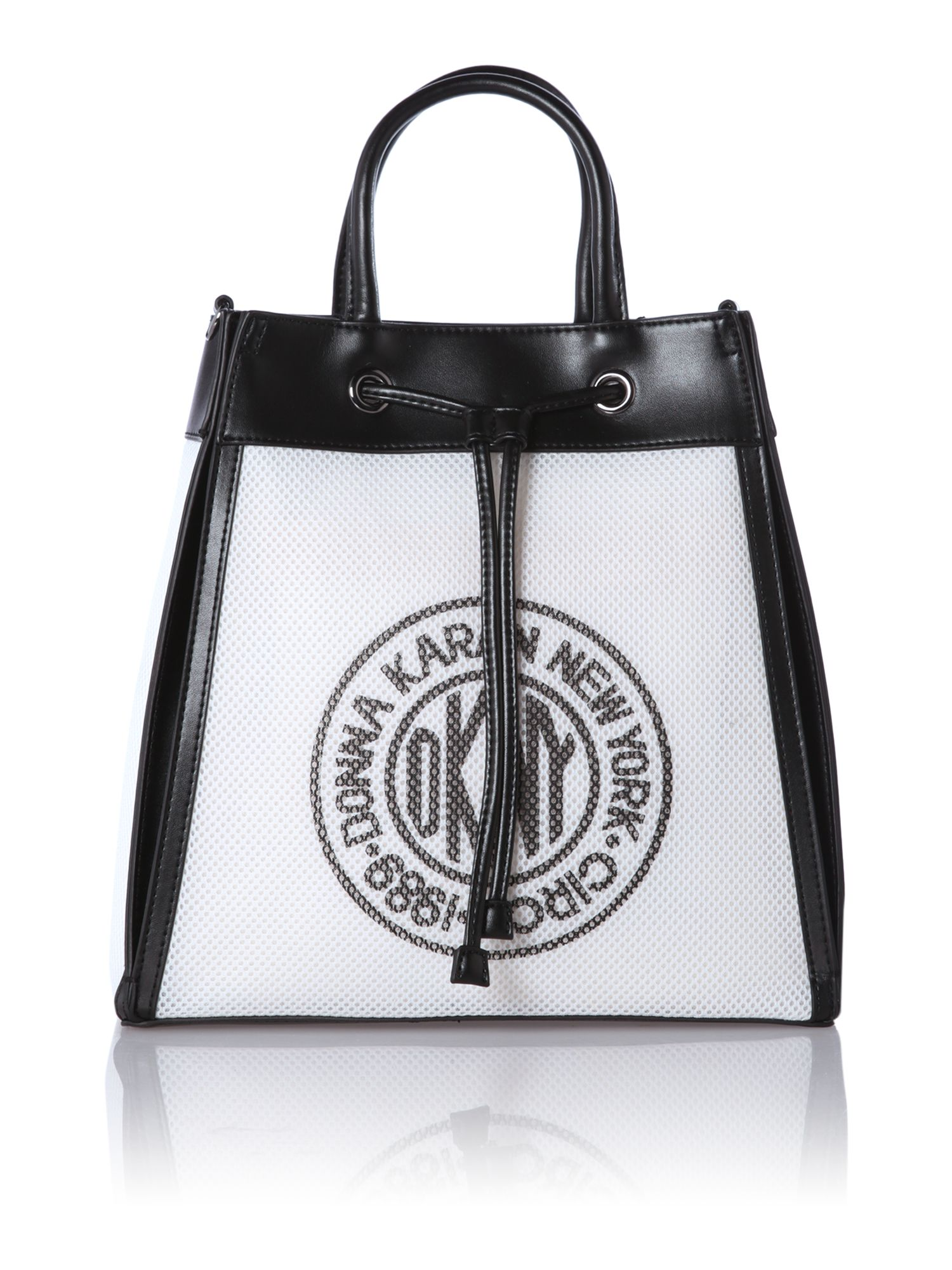 Printed mesh monochrome medium backpack