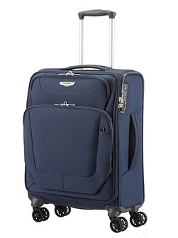 Spark blue 4 wheel cabin suitcase