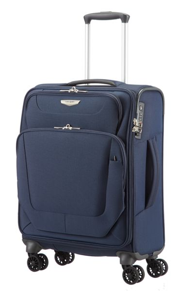 Samsonite Spark blue 4 wheel cabin suitcase