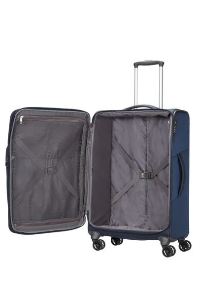 Samsonite Spark blue 4 wheel medium case