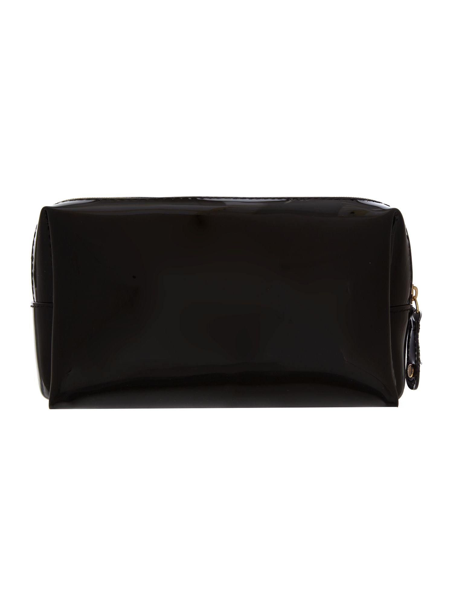 Black small bowcon cosmetic bag