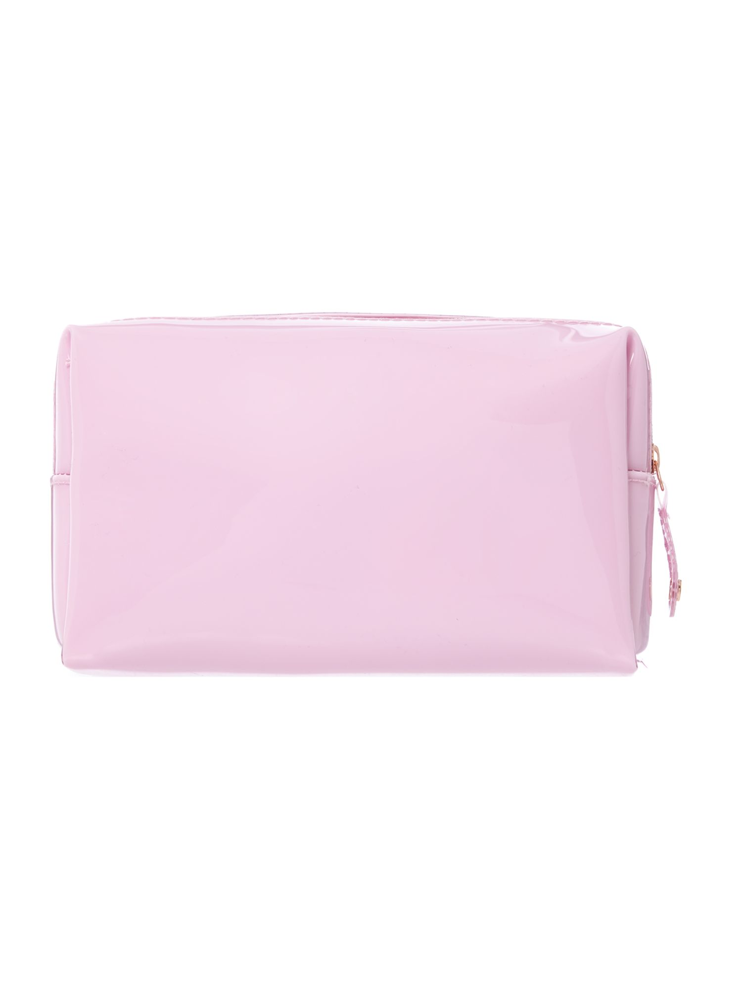 Pink small bowcon cosmetic bag