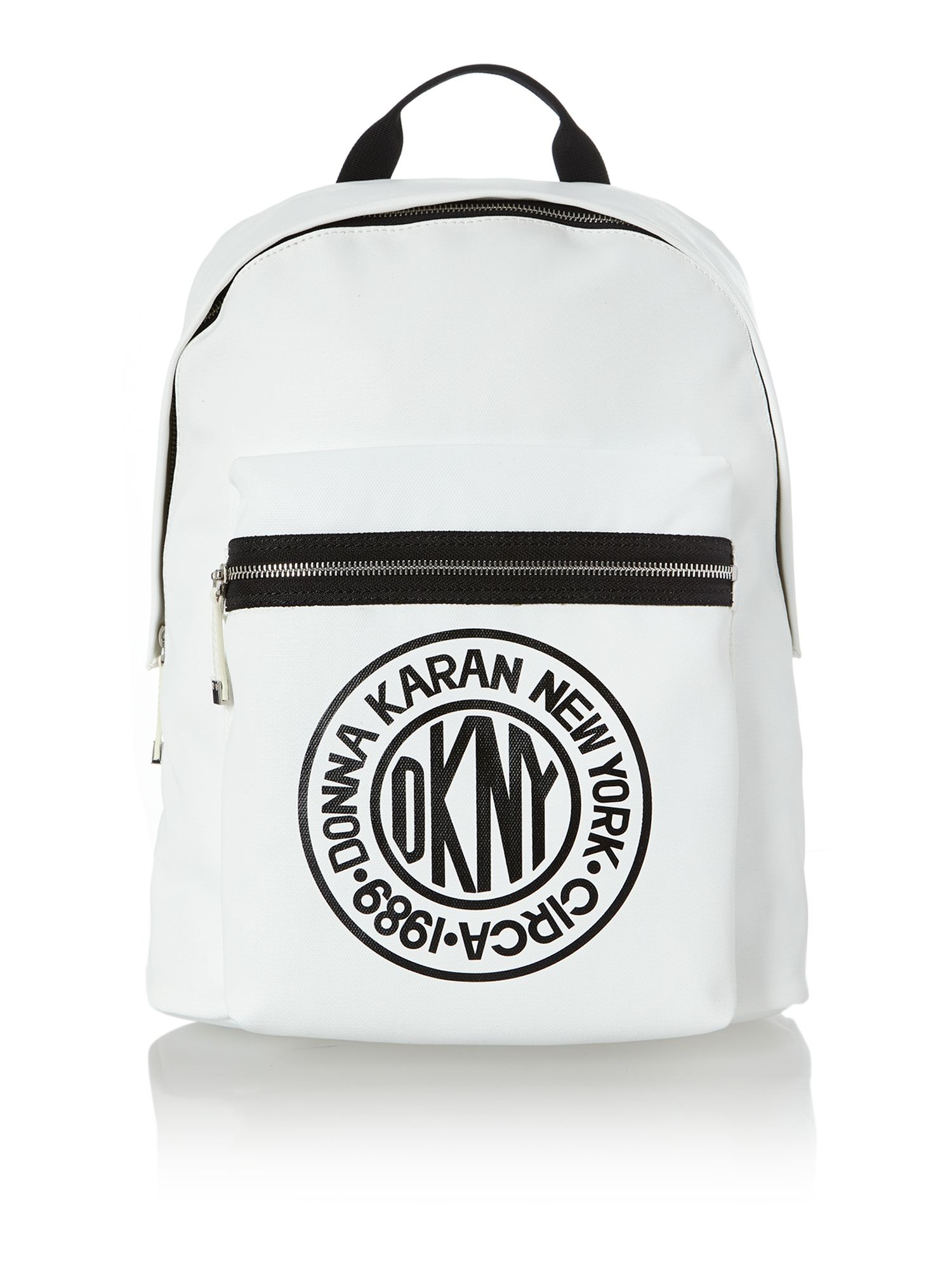 Canvas logo white large backpack