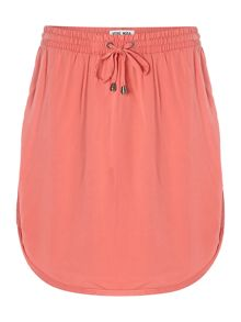 Drawstring mini skirt
