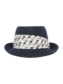 Felted trilby hat