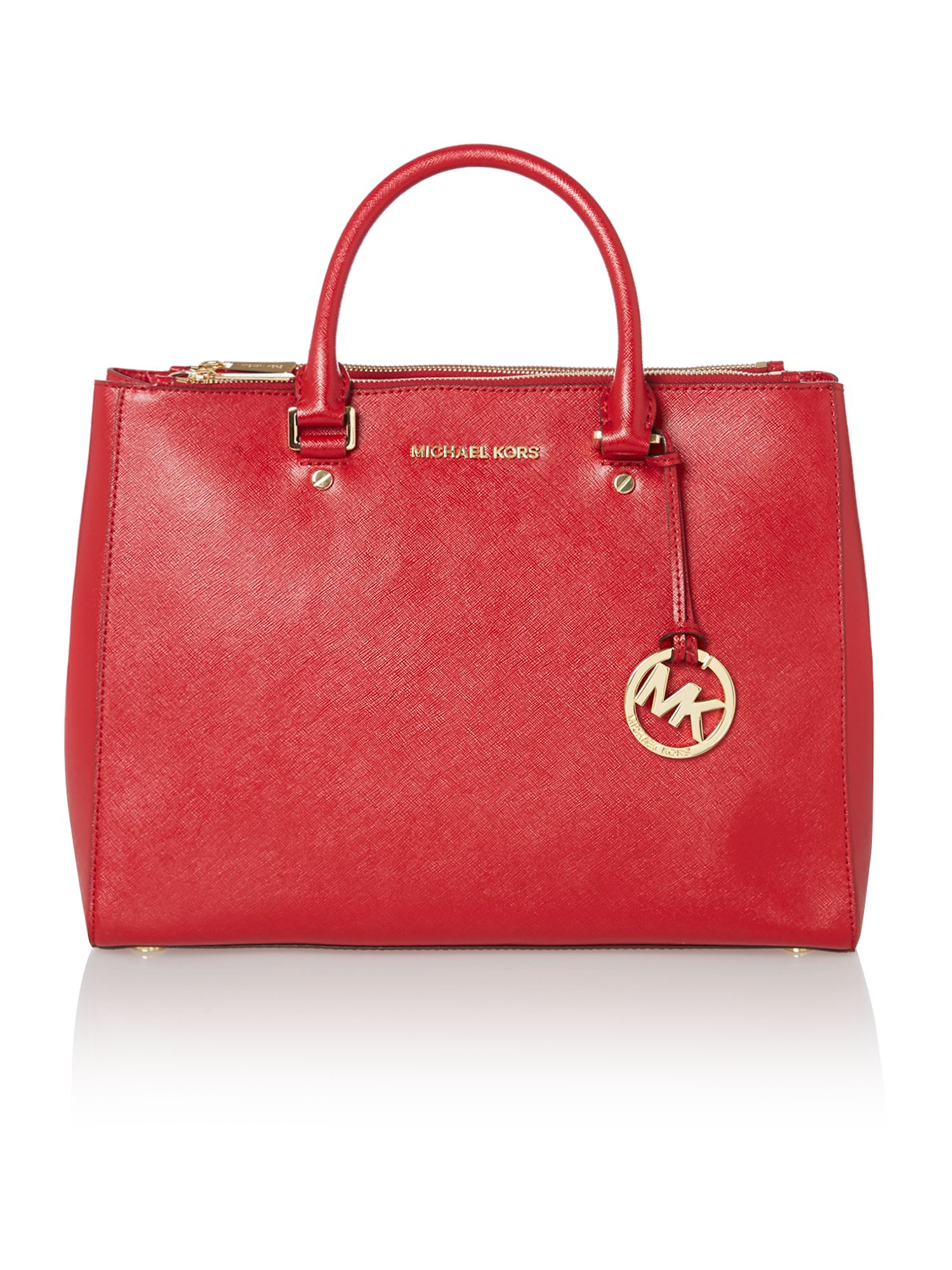 Jet set travel red double zip tote bag