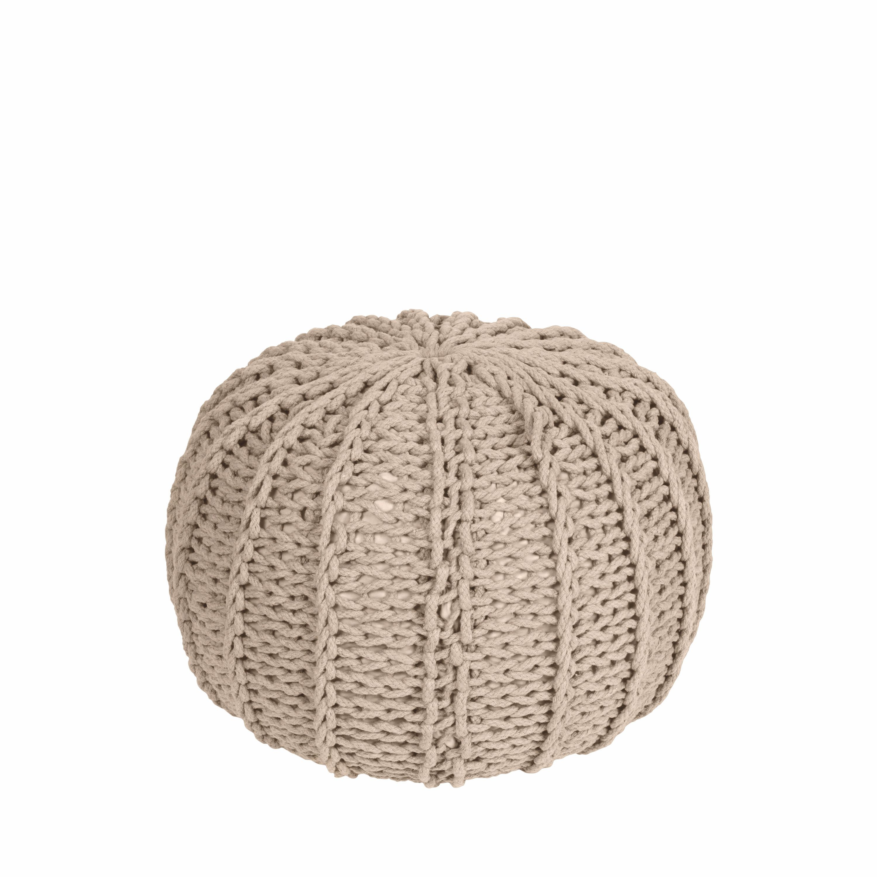 Pouf with cotton/poly filling in ivory 50x35cm