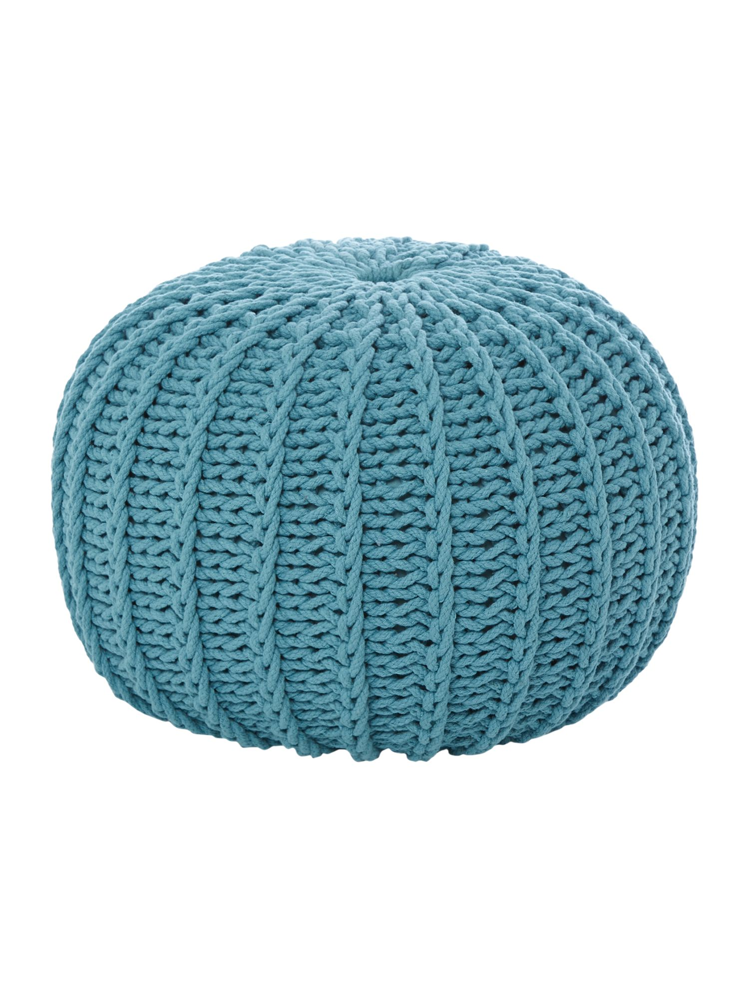 Pouf cotton/poly dusty turquoise 50x35cm