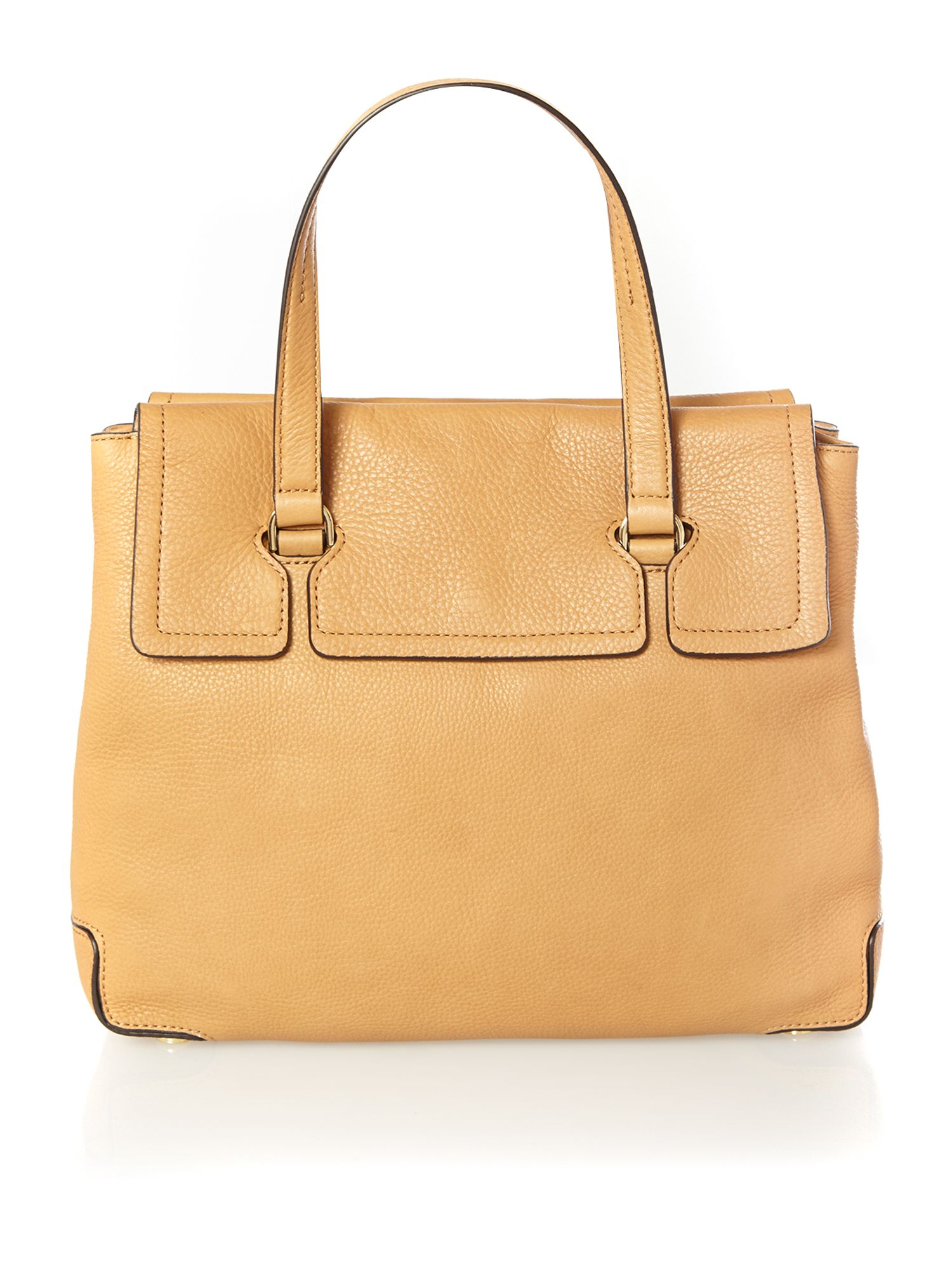 Mackenzie tan large flap over tote bag
