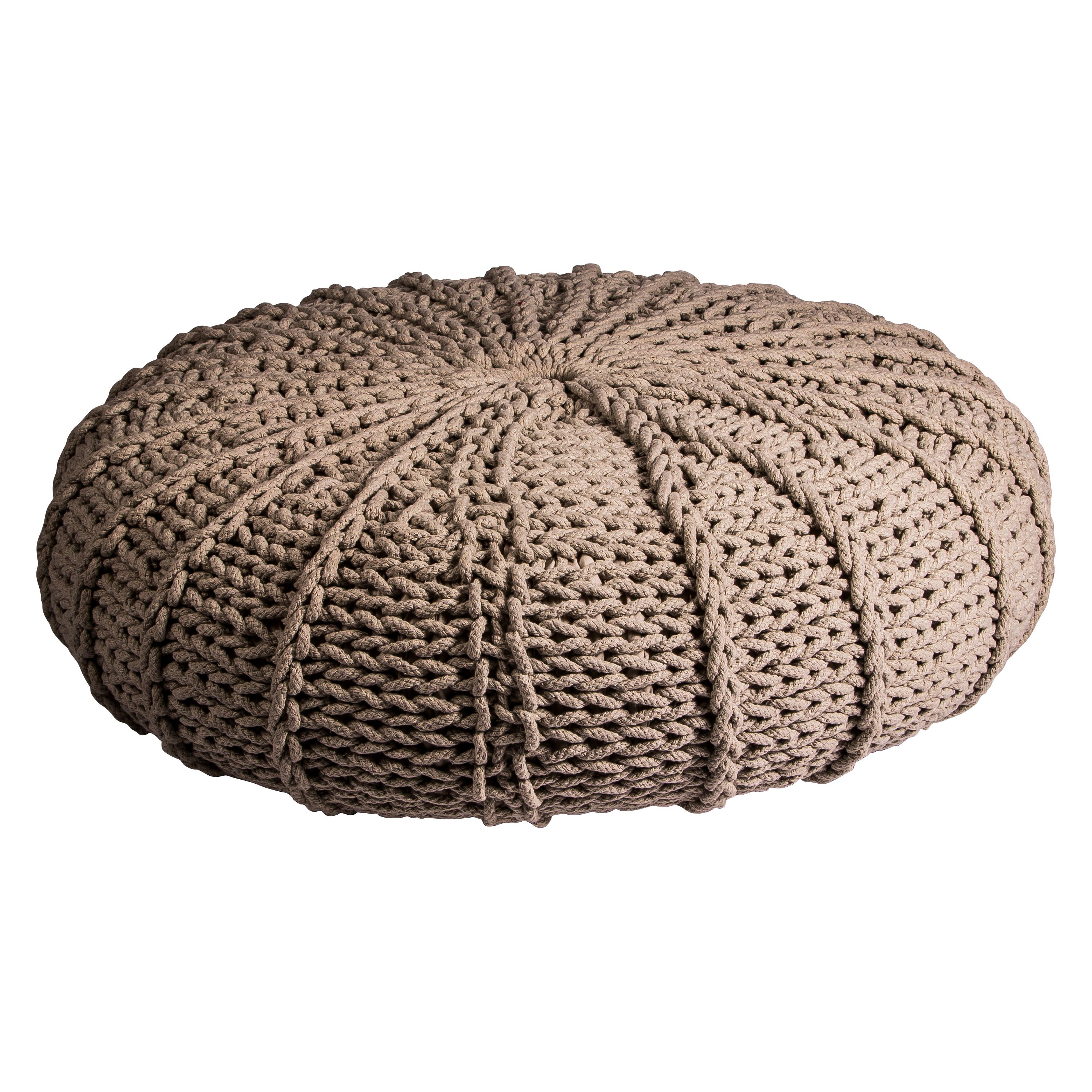 Pouf with cotton/poly filling in ivory 85x23cm