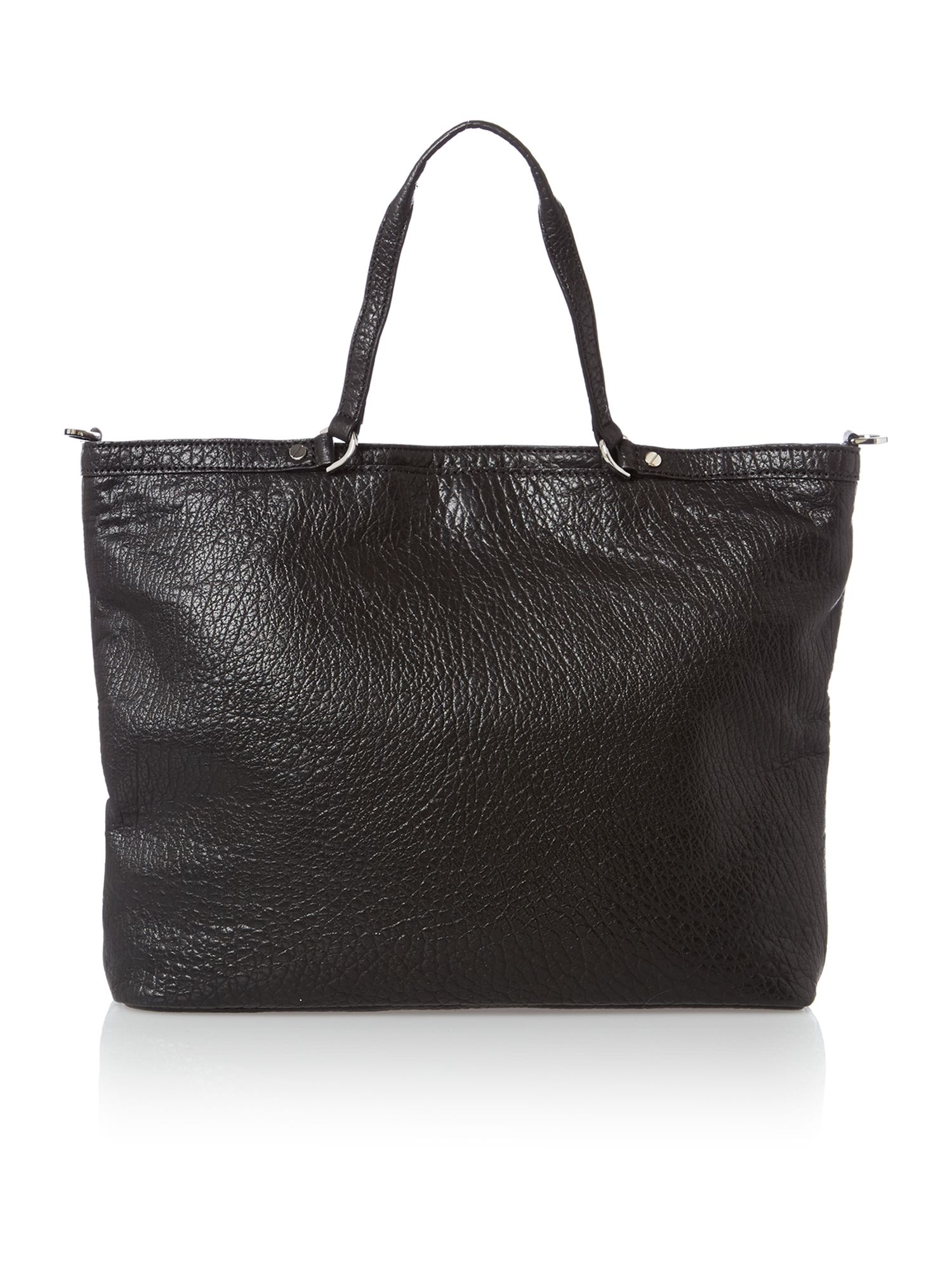 Channing black large tote bag