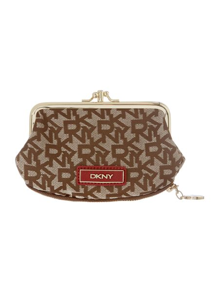 DKNY Saffiano red small coin purse