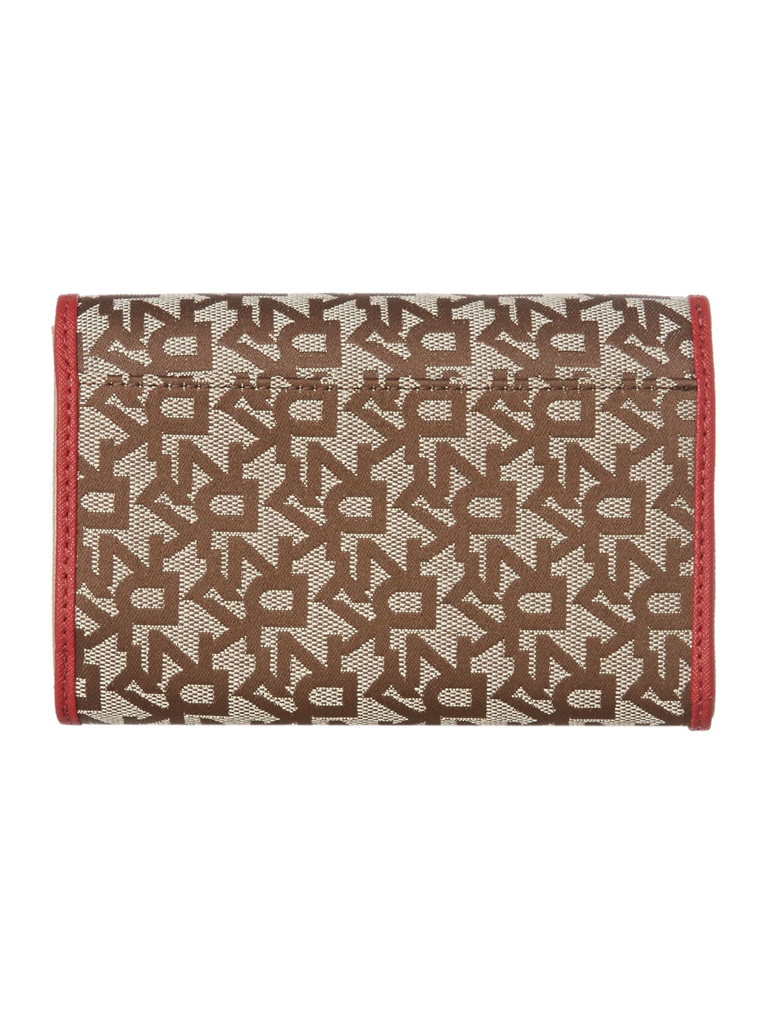 Saffiano red medium flapover