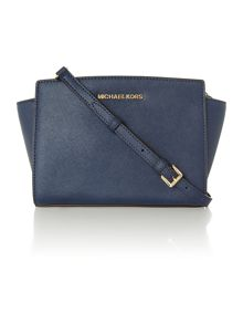 Michael Kors Selma navy small cross body bag