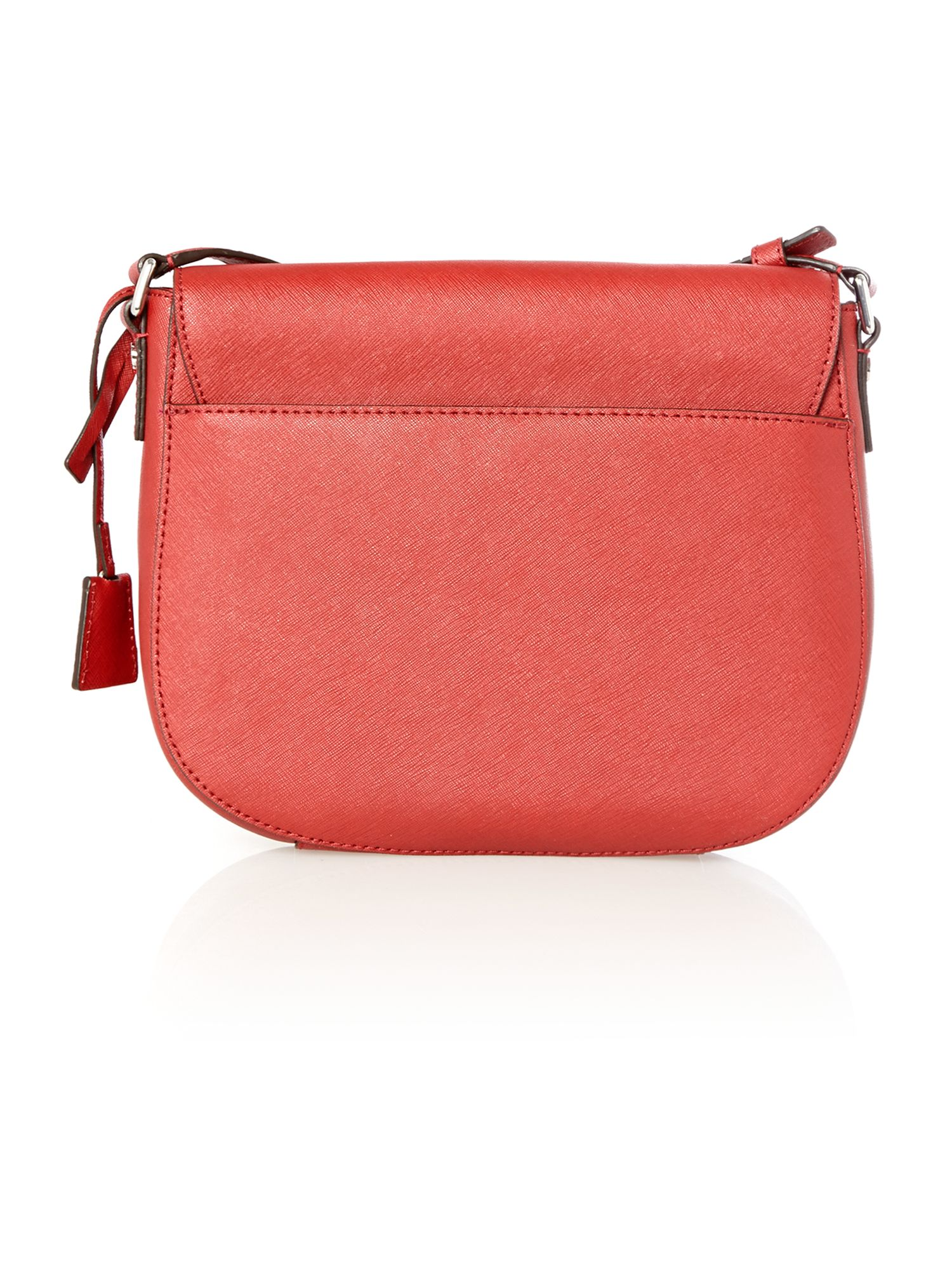 Hamiltin red flap over cross body bag