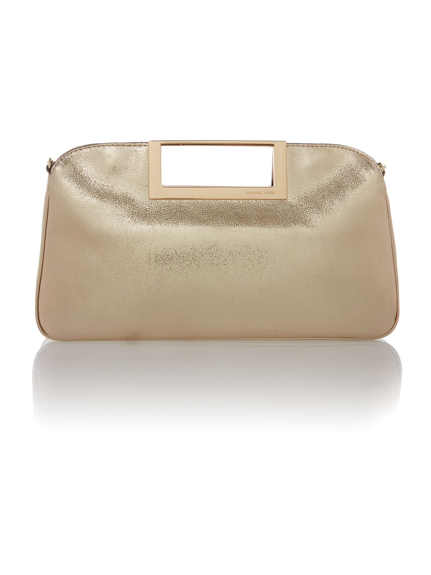 Berkley gold clutch bag