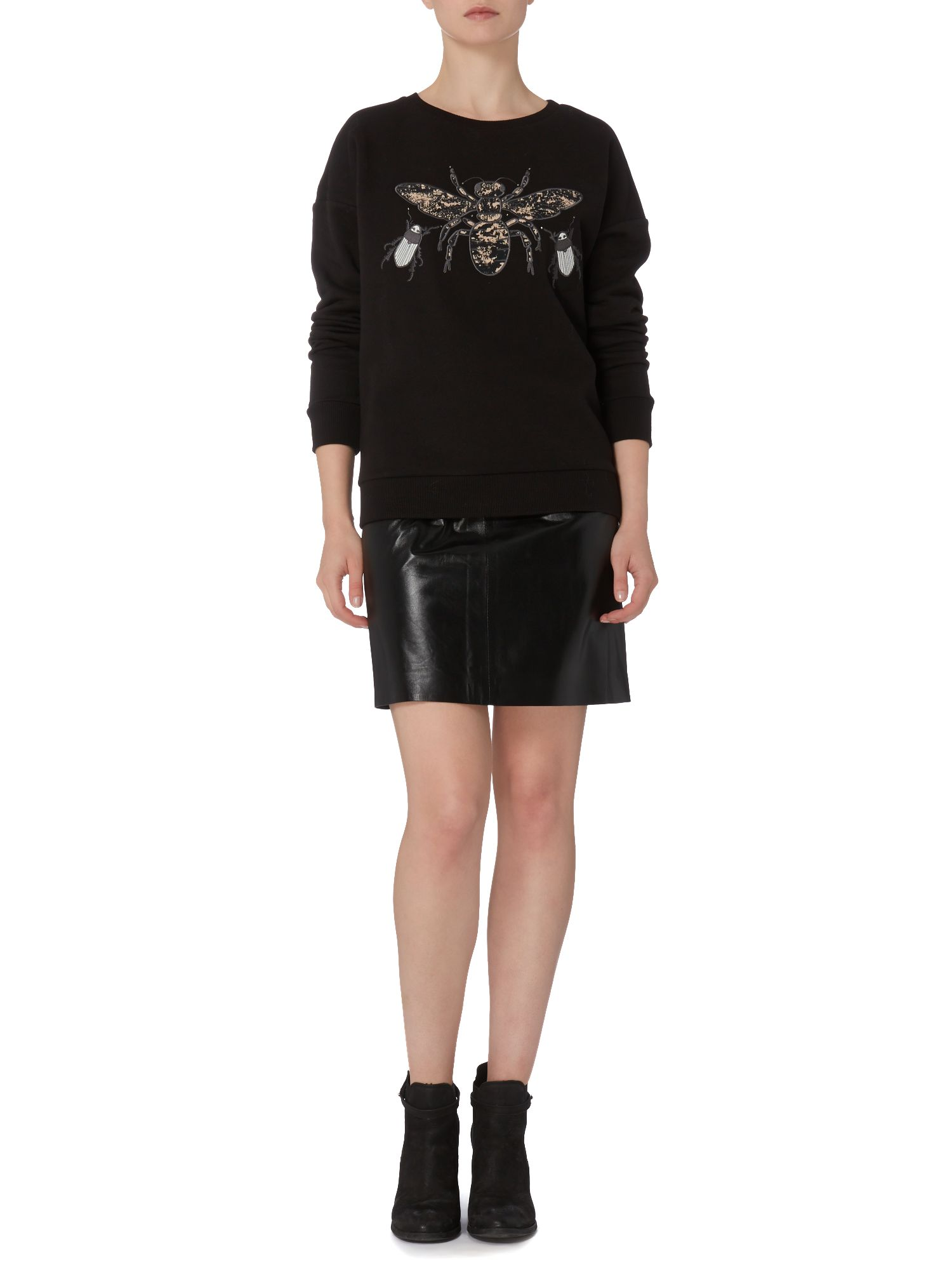 Lila Leather Skirt