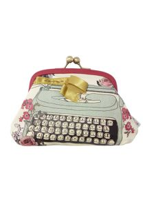 Multi typewriter coin purse