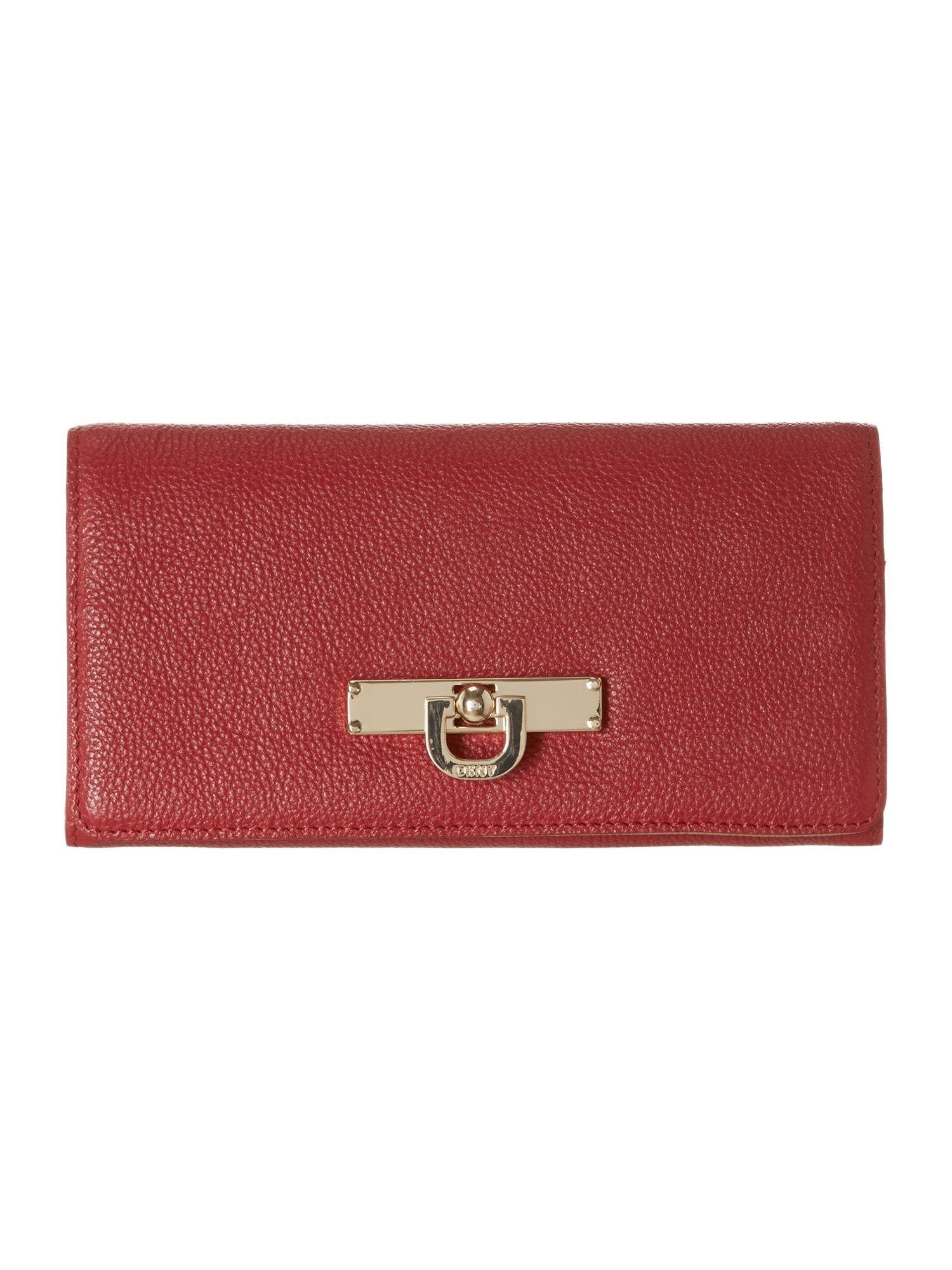 Saffiano red large flapover