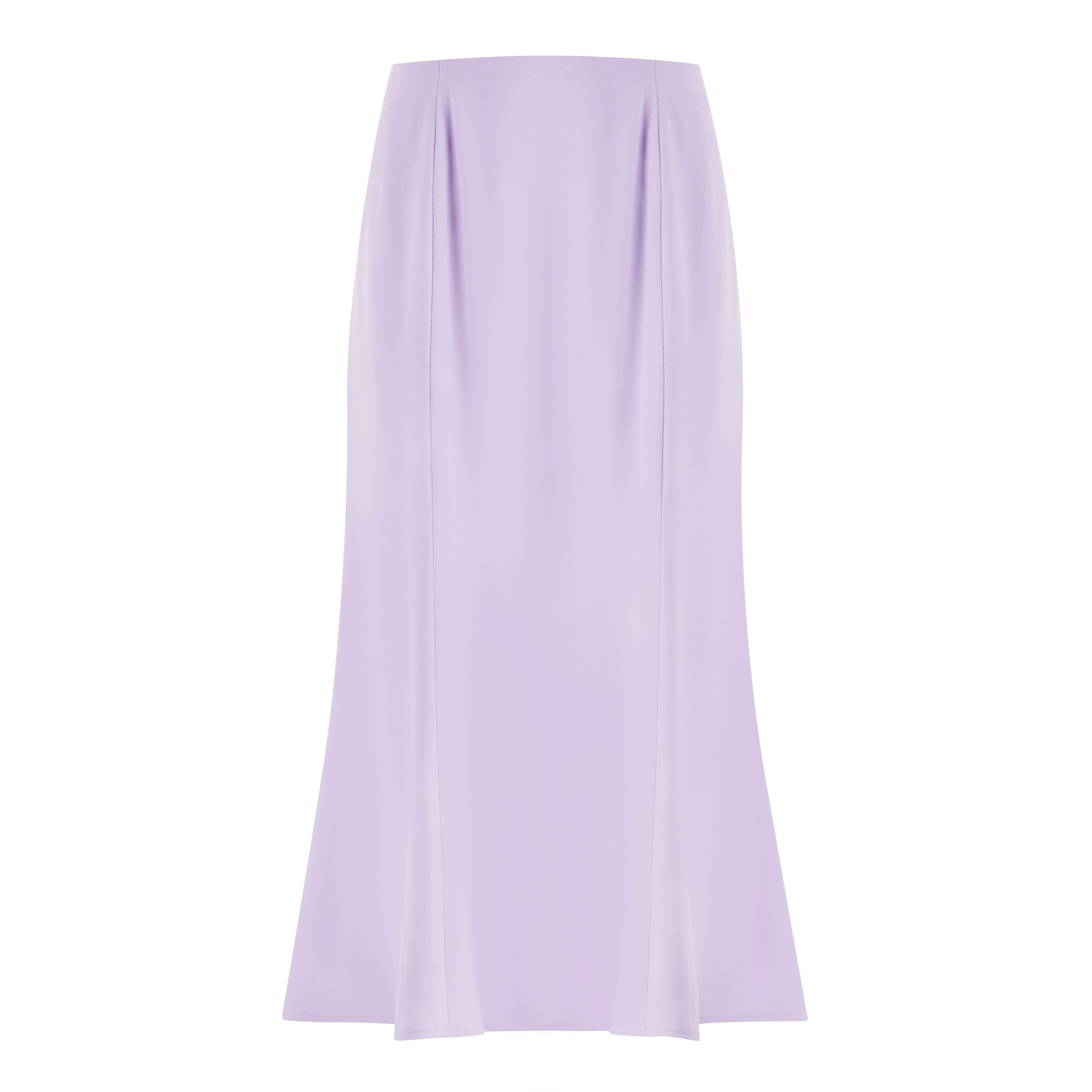 Lilac tailored fit and flare skirt