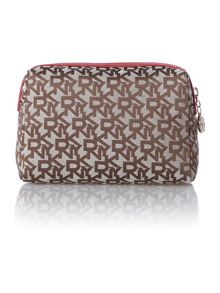 Saffiano red cosmetic bag