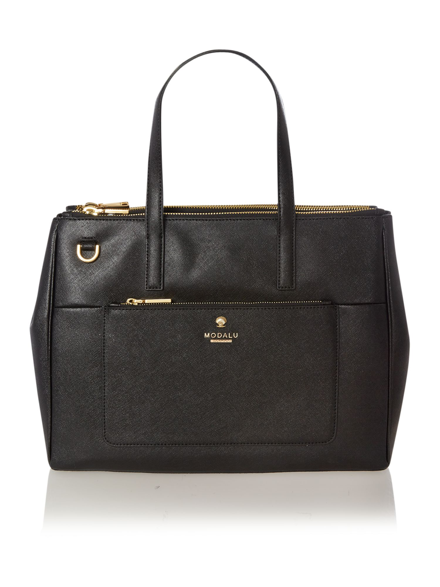 Phoebe black large saffiano tote bag