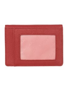 Saffiano red card holder