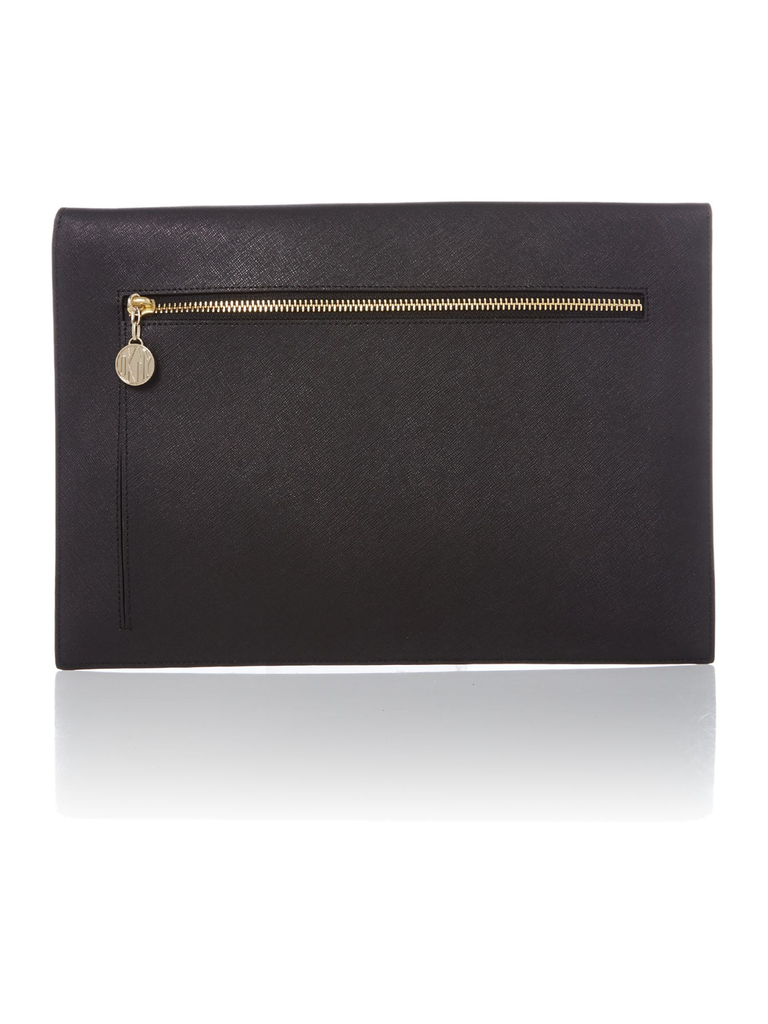 Saffiano black large document holder