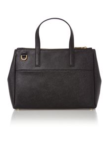 Phoebe black medium saffiano tote bag