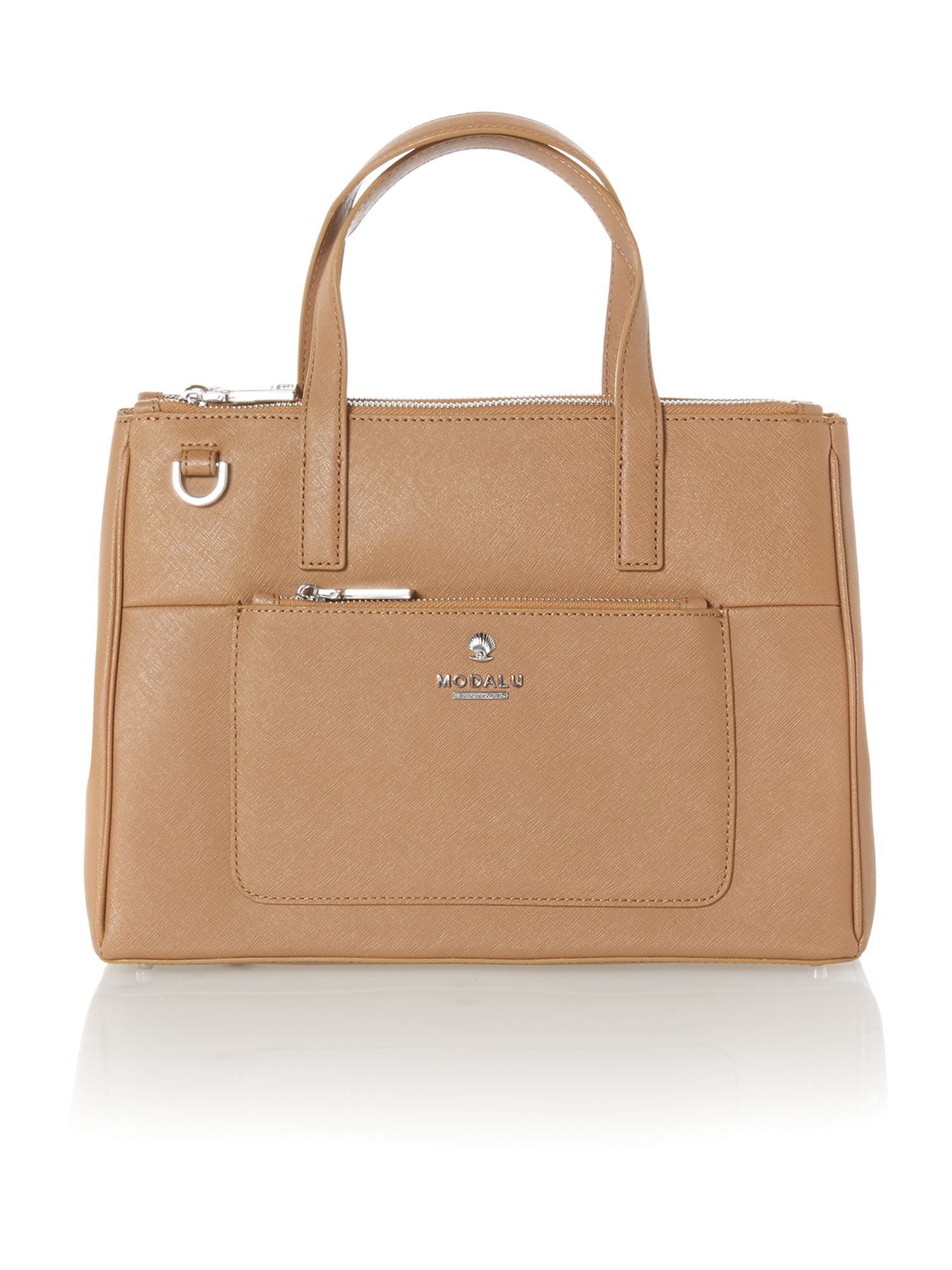 Phoebe taupe medium saffiano tote bag