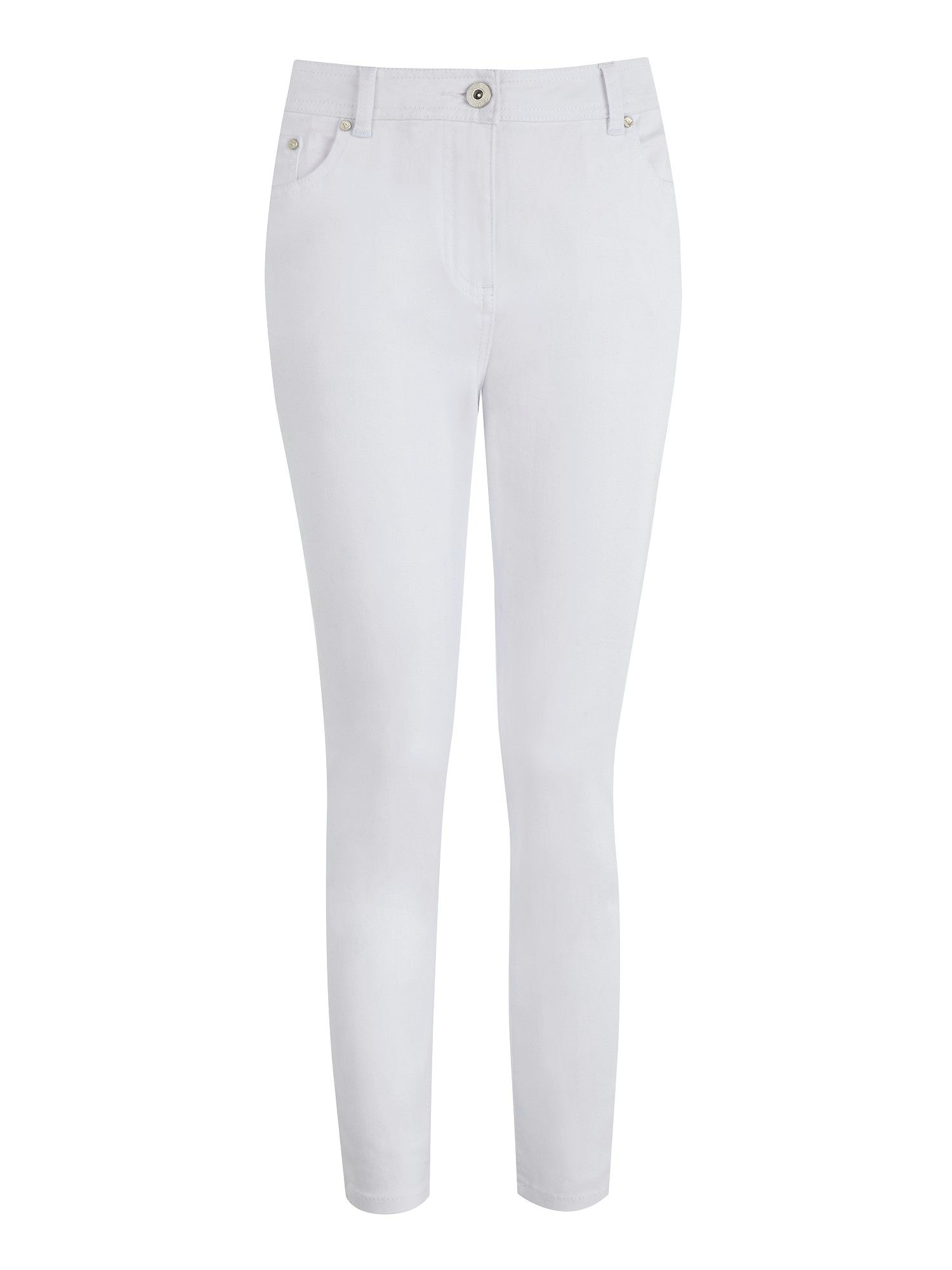 White twill capri trousers long