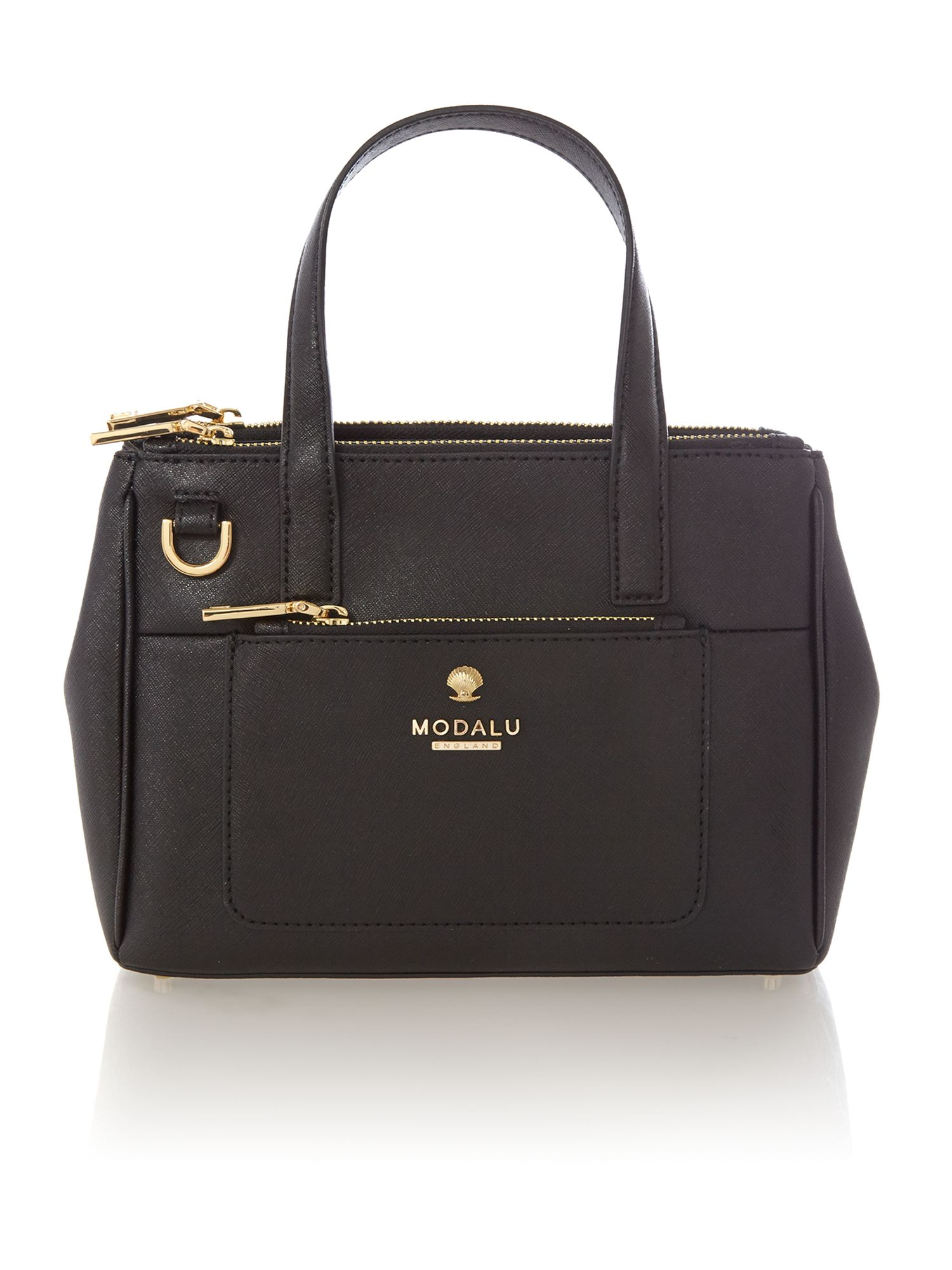 Phoebe black mini saffiano tote bag