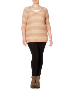 Plus Size Knit 3/4 sleeve jumper
