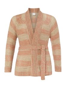 Long sleeve stripe knit cardigan