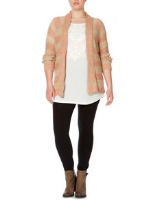 Juna Rose Plus Size Long sleeve stripe knit cardigan