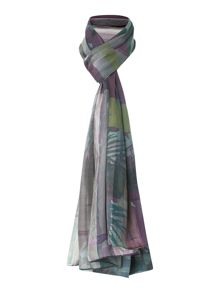 Rio night silk stripe scarf