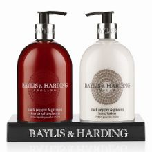 Baylis & Harding Black Pepper & Ginseng Hand Wash & Lotion Set