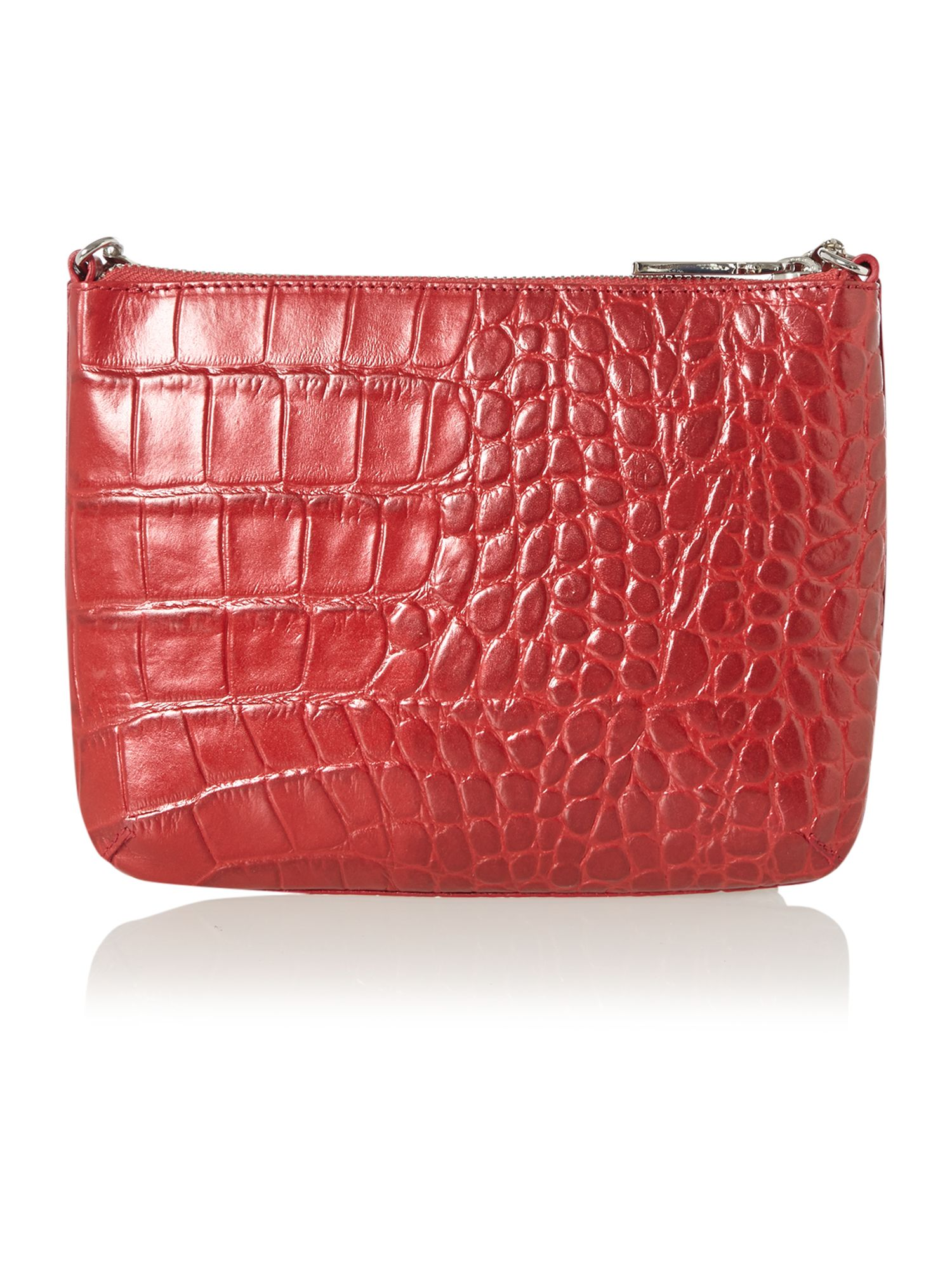 Twiggy pink croc cross body bag