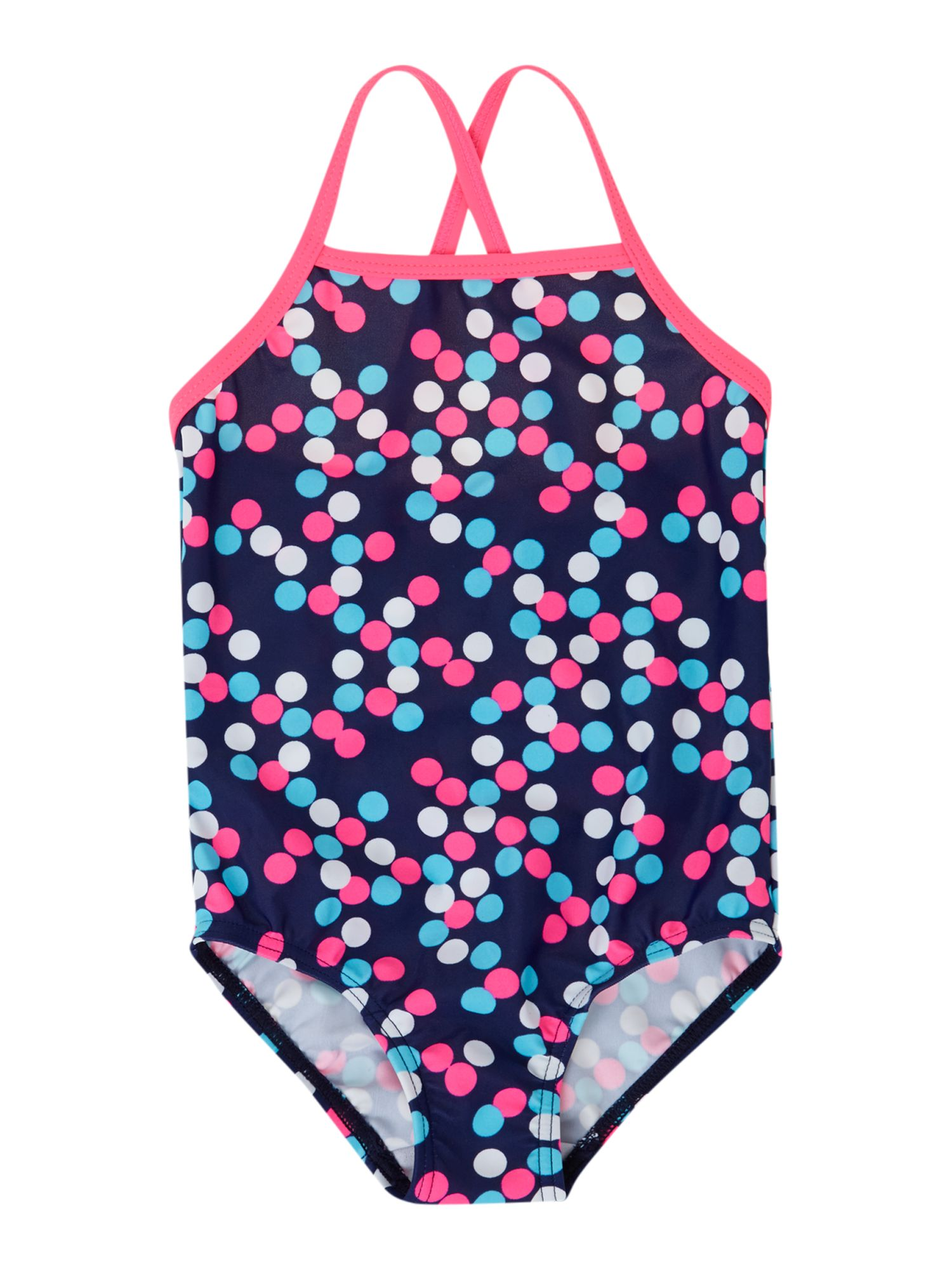 Girls spotty print swim suit