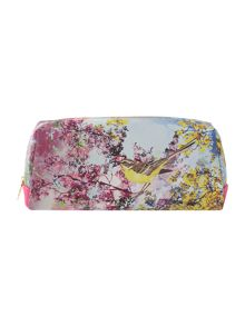 Multi coloured large pretty trees cosmetic bag