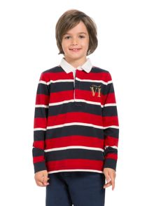 Boys multi stripe rugby shirt