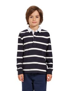 Boys lean stripe rugby shirt