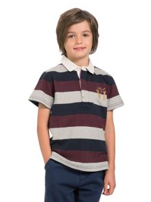 Boys broad stripe rugby shirt